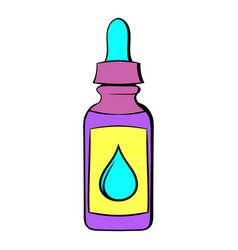 Vape juice bottle icon cartoon vector