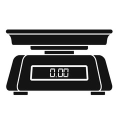 Vegetables digital scales icon simple style vector