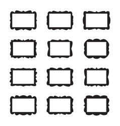 Vintage Frame Set vector image