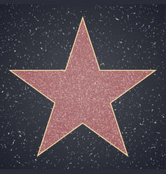 walk of fame star blank template vector image