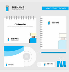 water shower logo calendar template cd cover vector image