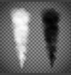 White and black smoke vector