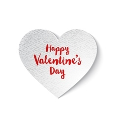 white paper Valentines heart vector image
