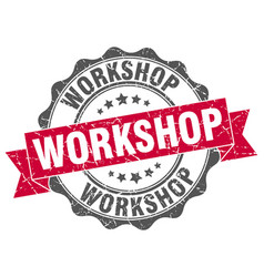workshop stamp sign seal vector image