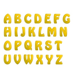 yellow shiny letters holiday fonts vector image