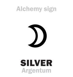 alchemy silver argentum vector image vector image