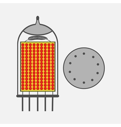 color icon with radio tubes vector image vector image