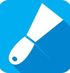 Construction trowel icon vector