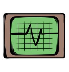 electrocardiogram monitor icon cartoon vector image vector image
