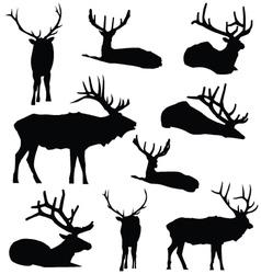Elk Silhouette Deer Animal Digital Clip Art vector image