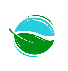 environmentally friendly product logo or icon vector image