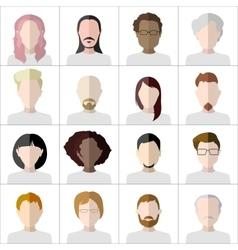 Flat people icons Set of stylish people icons vector image