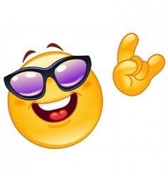 funky emoticon vector image vector image