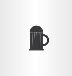 glass of beer black icon vector image