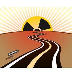 Radiation infection road horizon sunrise vector