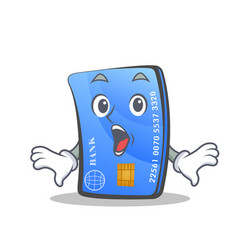 surprised credit card character cartoon vector image vector image