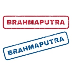 Brahmaputra Rubber Stamps vector image vector image