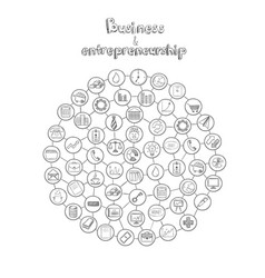 entrepreneurship infographic hand drawn concept vector image