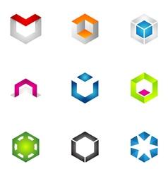 logo design elements set 71 vector image vector image