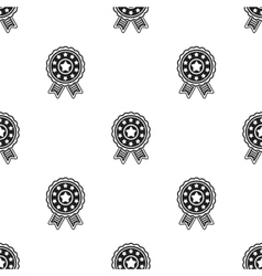 Vote emblem icon in black style isolated on white vector image