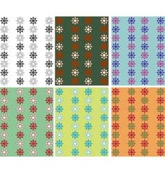 Assembly of the six color patterns vector image