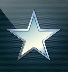 blue simple star vector image vector image