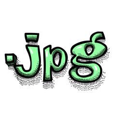 cartoon image of jpg document vector image vector image