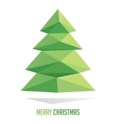 Christmas tree made with triangles isolated on a vector image vector image