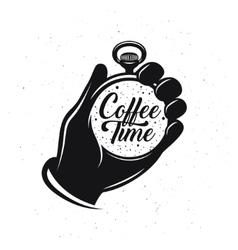 Coffee related creative monochrome poster Pocket vector image