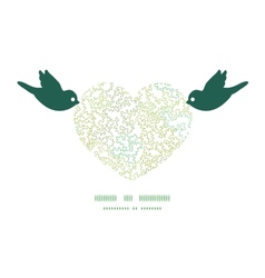 curly doodle shapes birds holding heart vector image