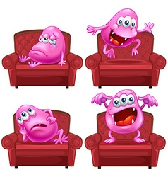 Monster and chair vector image vector image