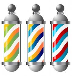 barbers pole set vector image vector image