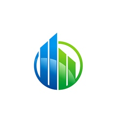business finance building architecture logo vector image