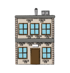 house two story windows chimney image vector image vector image