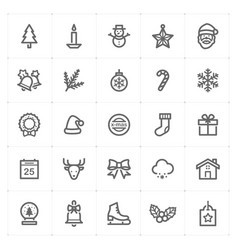 mini icon set christmas icon vector image vector image