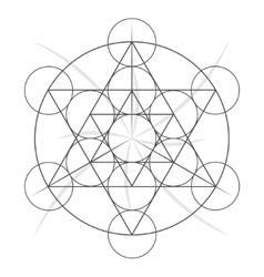 Sacred geometry symbol stock vector