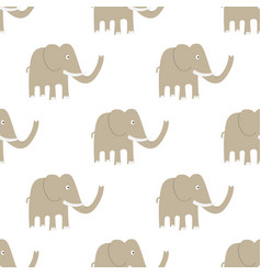 seamless elephant pattern vector image