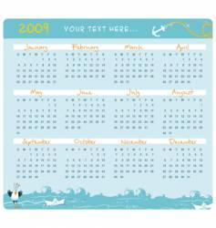 2009 sea calendar vector