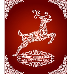 Abstract christmas deer vector