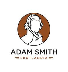 adam smith head logo vector image