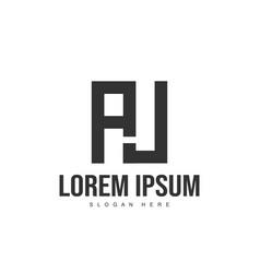 aj logo template design initial letter logo design vector image