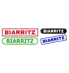 Biarritz rectangle watermarks with unclean texture vector