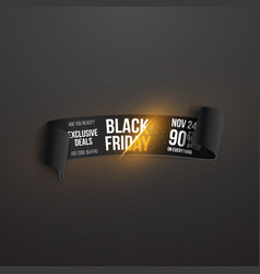 Black friday paper scroll realistic paper scroll vector