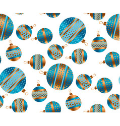 Blue and gold christmas seamless pattern vector