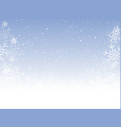 blue cover banner or background with snowflakes vector image