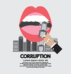 Building Was Eaten Corruption Concept vector