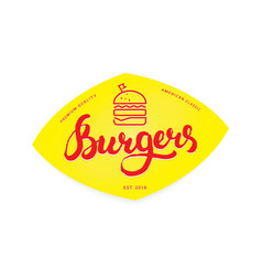 burger logo or icon emblem vector image