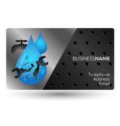Business card repair plumbing design vector