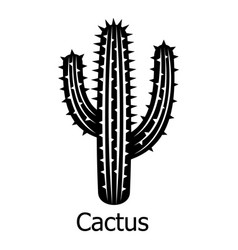 Cactus icon simple black style vector