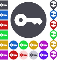 Color key icon set vector